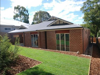 Completed Brick House Project Rear Garden